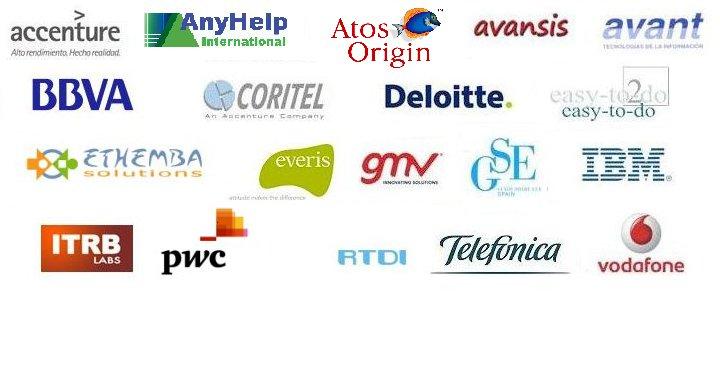 Empresas colaboradoras: Accenture, Avansis, Avant, Coritel, Deloitte, Everis, GMV, GSE, IBM, Vodafone
